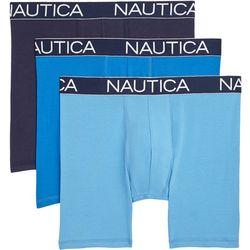 Nautica Mens 3-pk. Solid Logo Boxer Briefs