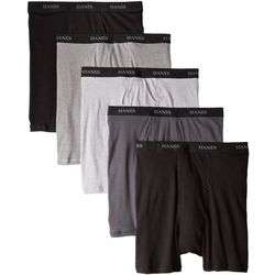Hanes Mens 5-pk. Exposed Waistband Boxer Briefs