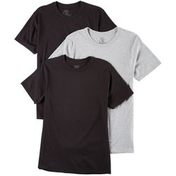 Hanes Mens 3-pk. Multi Crew Neck T-Shirts