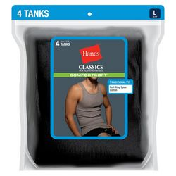 Hanes Mens 4-pk. A-Shirt Tank Tops
