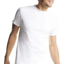 Hanes Mens 7-pk. White Crew Neck T-Shirts