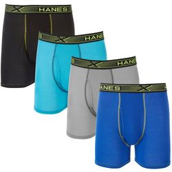 Hanes Mens 4-pk. X-Temp Breathable Mesh Solid Boxer