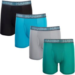 Hanes Mens 4-pk. X-Temp Air Solid Boxer Briefs