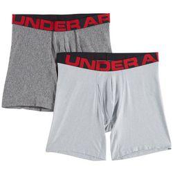 Under Armour Mens 2-pk. UA Tech Signature Short Boxerjocks