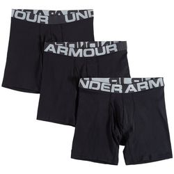Under Armour Mens 3-pk. UA Charged Cotton Boxerjocks