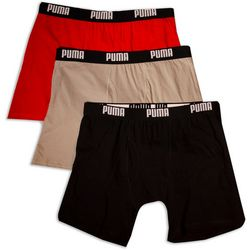 Puma Mens 3-pk. Cotton Boxer Briefs