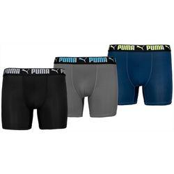Puma Mens 3-pk. Athletic Fit Boxer Briefs