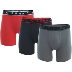 Puma Mens 3-pk. Performance Athletic Fit Boxer Briefs