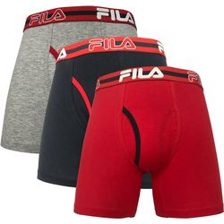 Fila Mens 3-pk. Stretch Boxer Briefs