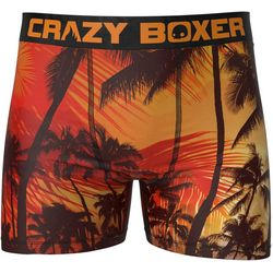 Crazy Boxer Mens Tropical Palm Boxer Briefs