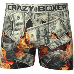 Crazy Boxer Mens Cash Print Boxer Briefs
