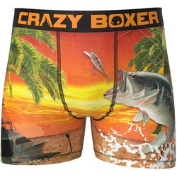 Crazy Boxer Mens Bass Fishing Boxer Briefs