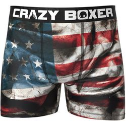 Crazy Boxer Mens Dark Flag Boxer Briefs