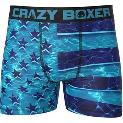 Crazy Boxer Mens Pool Flag Boxer Briefs