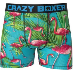 Crazy Boxer Mens Flamingo Boxer Briefs