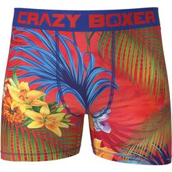 Crazy Boxer Mens Tropical Red Boxer Briefs