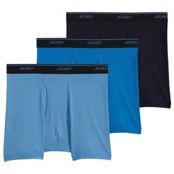 Jockey Mens Essential Fit 3-pk. StayCool+ Boxer Briefs