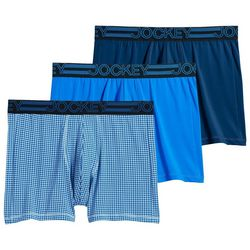 Jockey Mens 3-pk. Blue ActiveMicro Boxer Briefs
