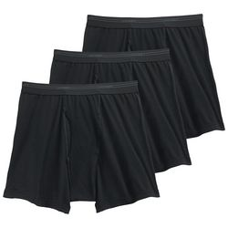 Jockey Mens 3-pk. Classic Cotton Solid Mesh Boxer Briefs