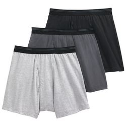 Jockey Mens 3-pk. Classic Cotton Mesh Boxer Briefs