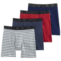 Jockey Mens 4-pk. ActiveBlend Midway Boxer Briefs