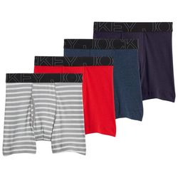 Jockey Mens 4-pk. Active Blend Boxer Briefs