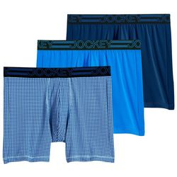 Jockey Mens 3-pk. Active Microfiber Logo Boxer Briefs