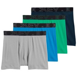 Jockey Mens 4-pk. Blue ActiveBlend Boxer Briefs