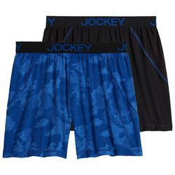 Jockey Mens 2-pk. Microfiber No Bunch Camo Boxers