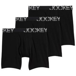 Jockey Mens 3-pk. Black ActiveStretch Midway Boxer Briefs