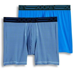 Jockey Mens 2-pk. Big Man Geo Active Midway Briefs