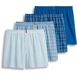 Jockey Mens Classics 4-pk. Blue Plaid Boxers