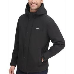 Levi's Mens Fleece Hooded Rain Jacket