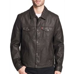 Levi's Mens Faux Leather Trucker Jacket