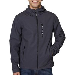 Nautica Mens Softshell Fleece Hooded Jacket
