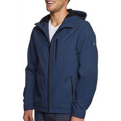 Nautica Mens Softshell Fleece Hooded Jacket