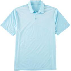 Golf America Mens Diagonal Stripe Print Polo Shirt
