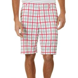 Golf America Mens Plaid Print Golf Shorts