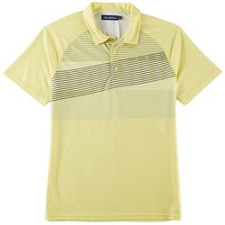 Golf America Mens Crooked Stripe Performance Polo Shirt