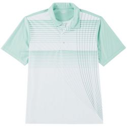 Golf America Mens Radiating Stripe Performance Polo Shirt