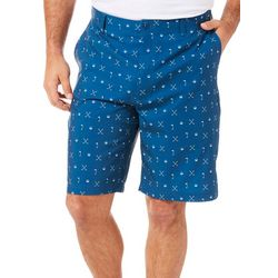 Golf America Mens Golf Icon Print Golf Shorts