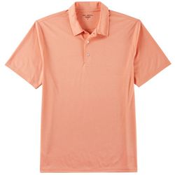 Golf America Mens Feeder Stripe Performance Polo Shirt