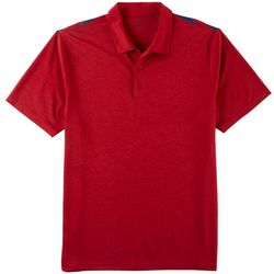 Pebble Beach Mens Back Stripe Performance Polo Shirt