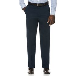 Savane Mens Flat Front Dress Khaki Pants
