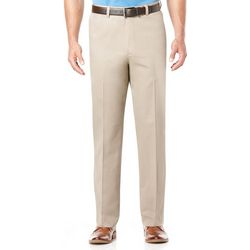 Savane Mens No-Iron Performance Flat Front Pants
