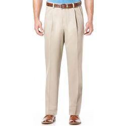 Savane Mens No Iron Performance Pleated Pants