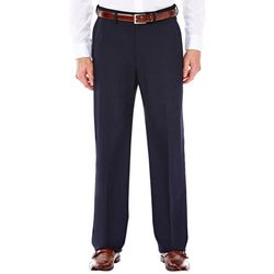 Haggar Mens Classic Fit Flat Front Suit Pants