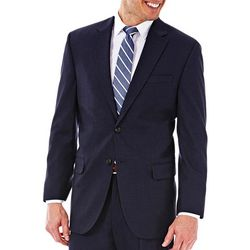 Haggar Mens Classic Fit Side Vent Suit Coat