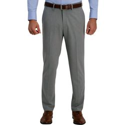 Haggar Mens 4-Way Stretch Slim Fit Flat Front Dress Pant