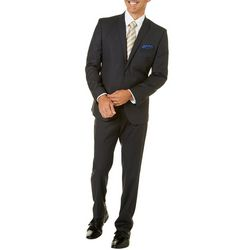 Mens Black & Grey Check Suit